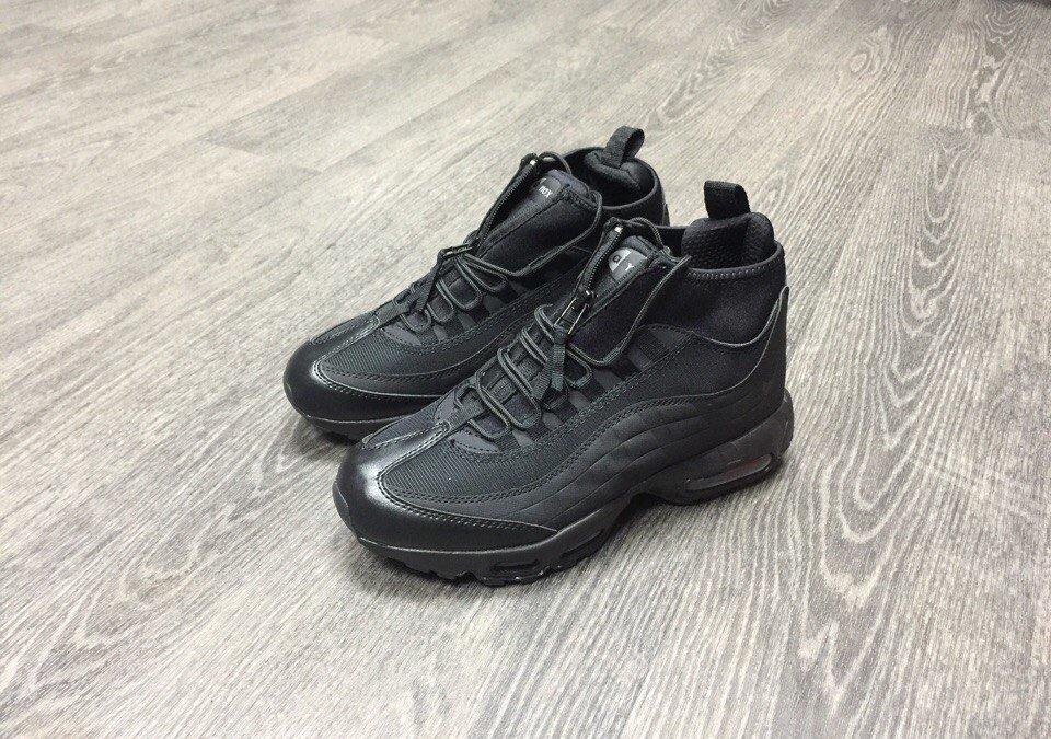 Купить кроссовки Найк   Nike Air Max 95 SneakerBoot Full Black в ... 92b057779a2