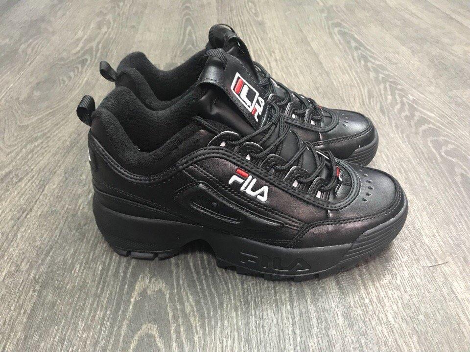 Купить кроссовки Фила   FILA Disruptor II Full Black в интернет ... b3839da7628