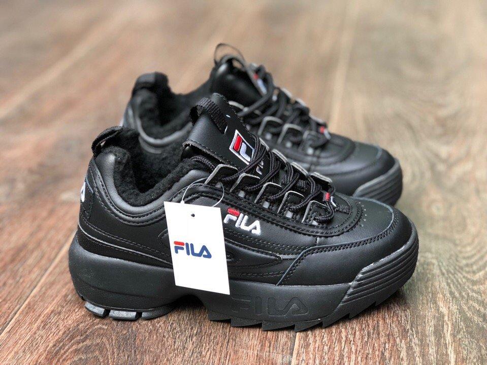 Купить кроссовки Фила   FILA Disruptor II Black зимние в интернет ... 3a001fc36b8