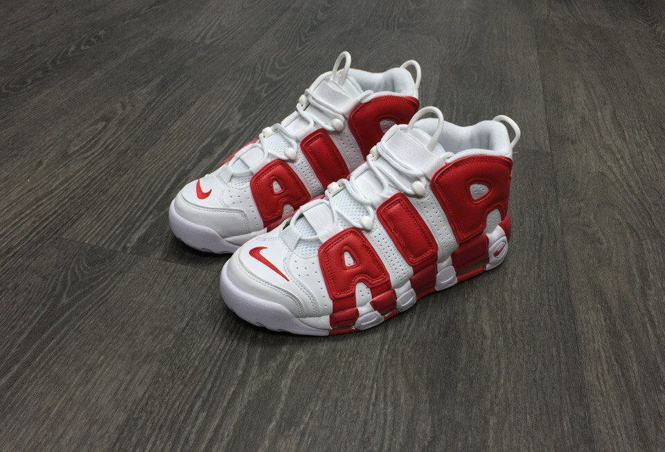 fc1bdaa4 Купить кроссовки Найк | Nike Air More Uptempo White Red в интернет ...