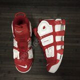 Кроссовки Nike Air More Uptempo x Supreme Red White