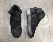 Кроссовки Adidas Tubular Invader Strap (Full Black)