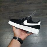 Кроссовки Nike Air Force 1 Suede Low Black White