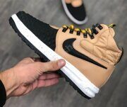 Кроссовки Nike Lunar Force 1 Duckboot Metallic Gold Black Light Bone