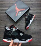 Кроссовки Air Jordan 4 (Black Red)