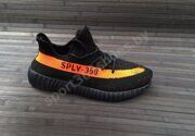 Кроссовки Adidas Yeezy Boost 350 v2 (Black / Orange)