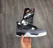 Кроссовки Air Jordan 4 (Gray Black)