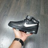 Кроссовки Nike Air Force 1 Mid Black White